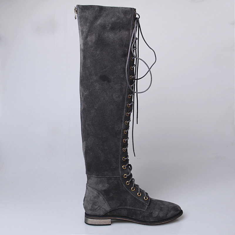 2af7f0577a6f2 Prova Perfetto Sexy Slim Over the Knee Long Boots Cross Tied Lace Up Thigh  Women Botas Genuine Cow Suede Leather Knight Boots-in Over-the-Knee Boots  from ...