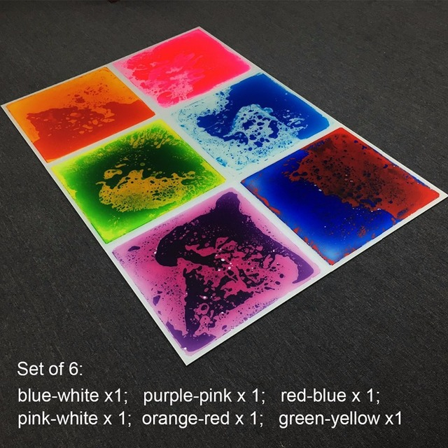 6 Multi Color Liquid Floor Tiles 197x197 Ground Tiles For