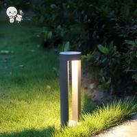 Outdoor COB LED Lawn Lamp Fixture Waterproof IP65 Modern Aluminum Standing Light 220V 110V for Garden Pathway Walkway Backyard