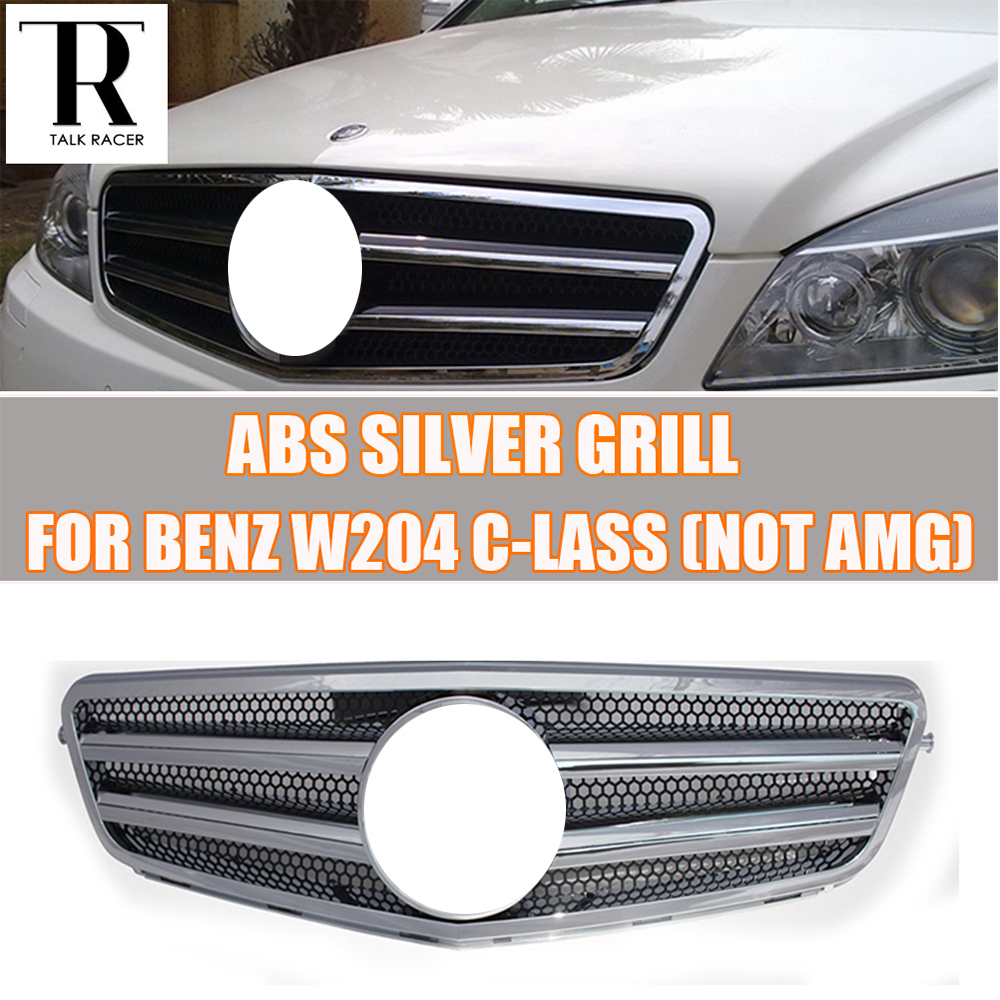 W204 C-Class Front Bumper Grill Grille for Mercedes Benz W204 C-CLASS C180 C200 C260 C300 ( not for AMG ) 07 - 14 yandex mercedes x156 bumper canards carbon fiber splitter lip for benz gla class x156 with amg package 2015 present