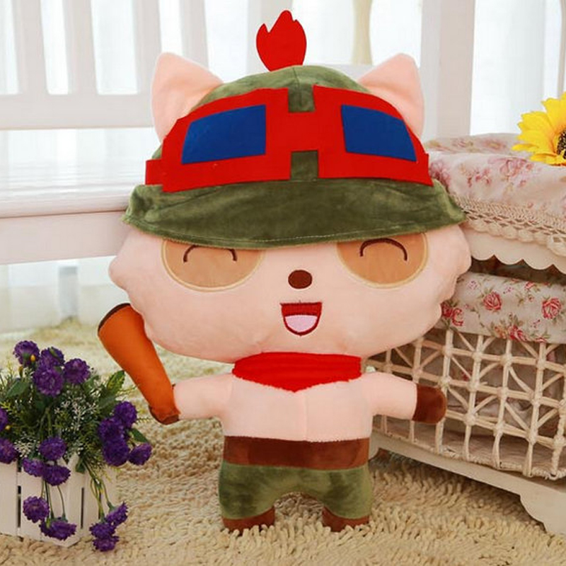 LOL Teemo Plush Doll Toy 20cm/35cm LOL Teemo The Swify Scout Plush Soft Stuffed Toys Game Figure Toy for Xmas Birthday Gifts