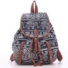 Новая мода рюкзак женщин большой емкости холст рюкзак печати рюкзак школьные сумки для подростков drawstring сумка Mochila