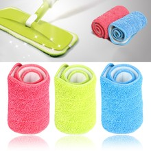 1PC Replacement Microfiber mop Washable Mop head Mop Pads Fit Flat Spray Mops Floor Dust Household Cleaning Tools multifunction microfiber squeeze water tow head rotate mop retractable lazy floor cleaning swab swabber dust household tools