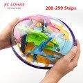 208-299 pasos de gran tamaño bola intelecto mágico 3d bola laberinto laberinto iq puzzle divertido juguete equilibrio creativo regalos de cumpleaños