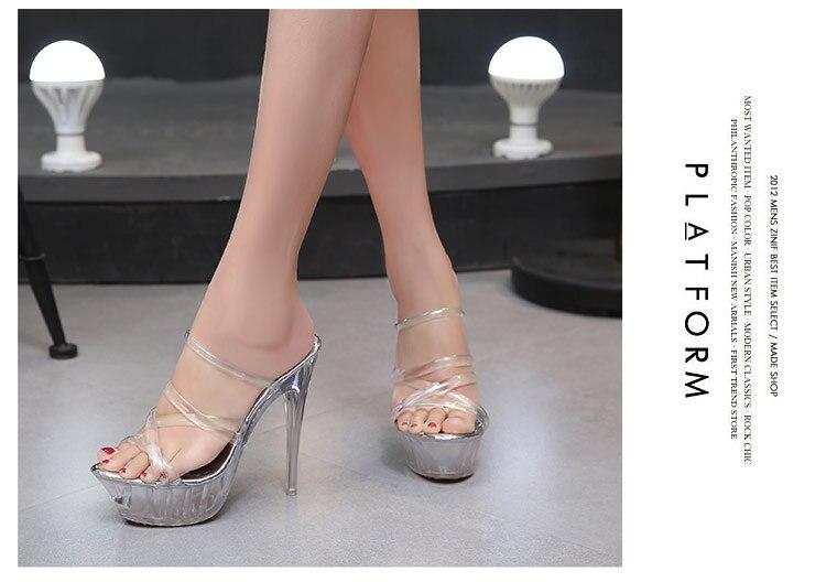 10b671a623f SDTRFT Plus 35-45 46 Luxury Spring 14cm thin heels platform shallow mouth  single princess wedding shoes women wedding pumpsUSD 29.14-31.96 pair