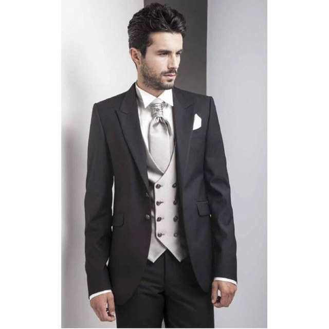Black italy mens suits with double breasted vest 2017 elegant best black italy mens suits with double breasted vest 2017 elegant best men wedding tuxedos mens party junglespirit Images
