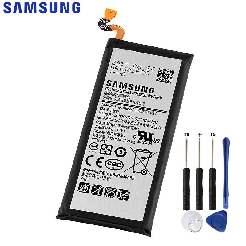 D'origine de Remplacement Samsung Batterie Pour Galaxy Note 8 Note8 N9508 N9500 Projet Baïkal Véritable Batterie EB-BN950ABE 3300 mah