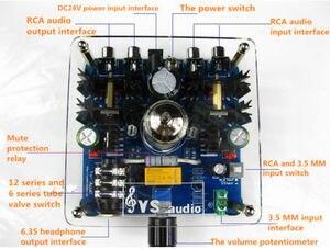 Image 5 - Mini Class A 12AU7 Vacuum Tube Multi Hybrid Headphone Amplifier Stereo Pre Amp Class A Amplifier With Audiophile Performance.
