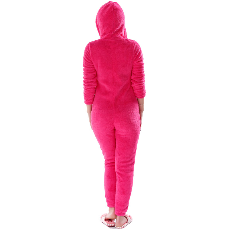 Adults Plus Size Onesie Pink Rose Red Pajama Sets Girls Autumn Winter Fleece Warm Hooded Onesie Sleepwear For Women Teenagers 2