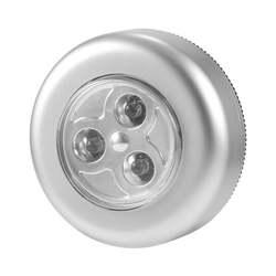 Без проводки требуется Настоящее сенсорное управление ночника 3 светодиода Беспроводная палка коснитесь Шкаф сенсорный светильник на