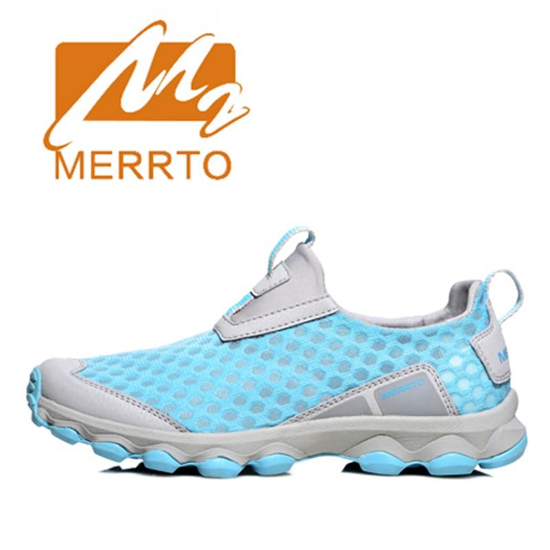 ФОТО 2017 Merrto Women Walking Shoes Lightweight Outdoor Slip On Shoes Mesh For Women Free Shipping MT18360