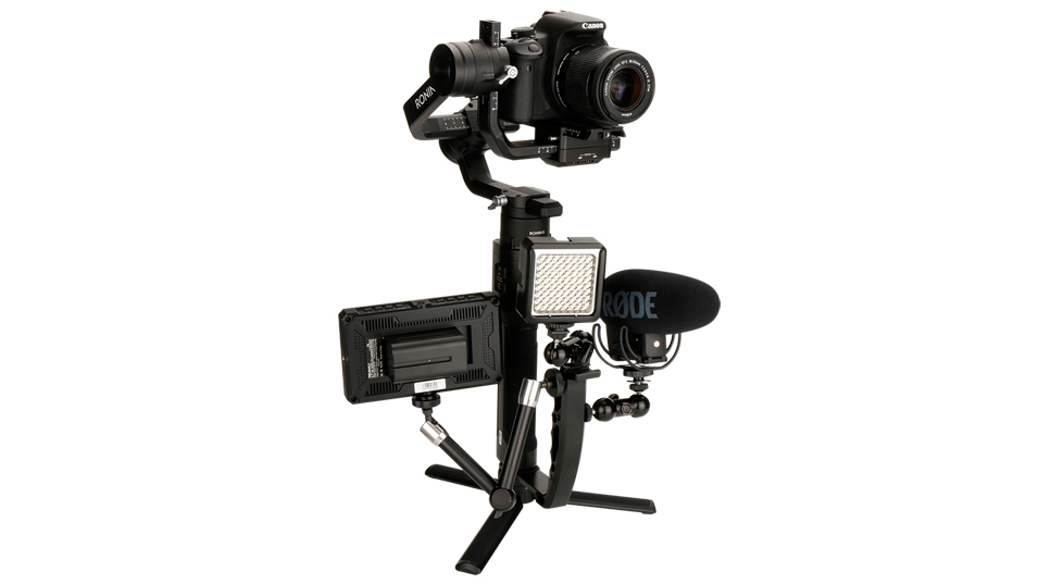 Gimbal Accessories L Bracket Stand Handle Grip with Hot Shoe 1/4'' Screw for Zhiyun Crane 2 DJI Ronin S Weebill LAB Stabilizer 8