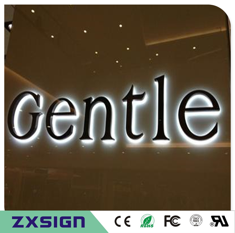 Factory Outlet Exterior Stainless Steel Backlit Led Letra Luminosa