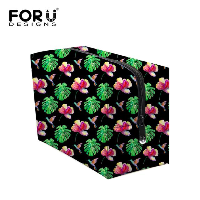 Gran capacidad de viaje bolsa maquillaje coreano Floral mujeres portátil de almacenamiento de gran tamaño maquillaje caja envío gratuito