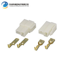 цена на Free Shipping 10 Sets All New 2 Pin  Electrical Wire Connector Plug 6.3 Male female Automobile Connector