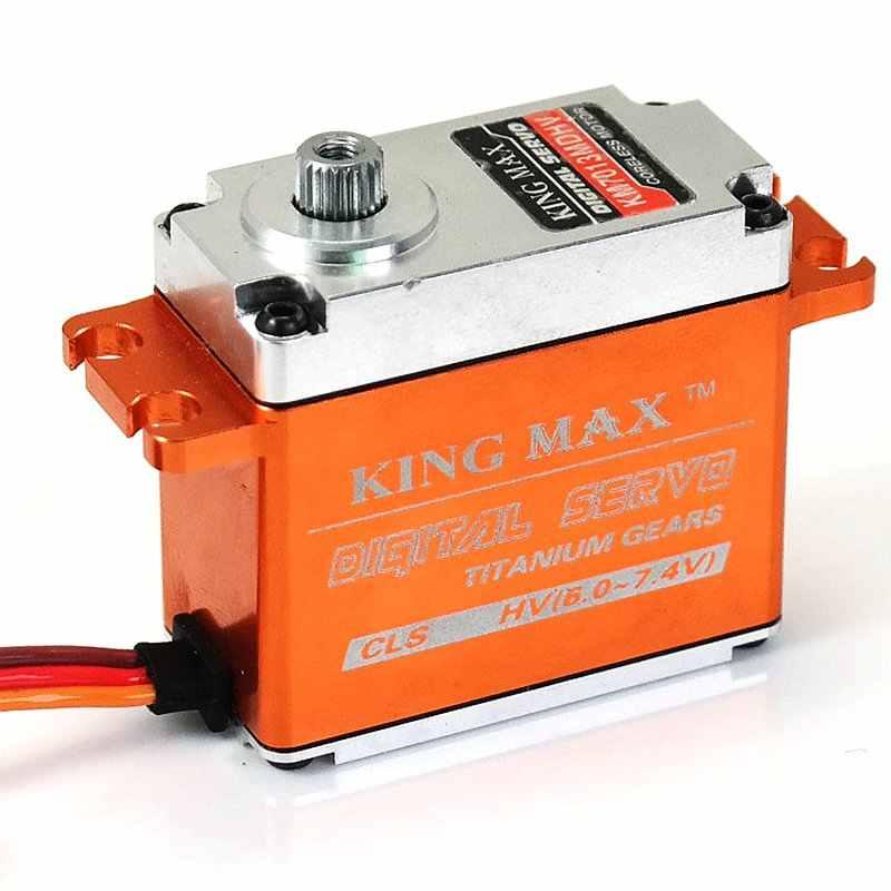 KINGMAX が KM7013MDHV 72 グラム 15kg 。センチメートル、デジタル鋼歯車標準サーボ HV 防水 CNC 金属ケース rc 航空機 CCPM