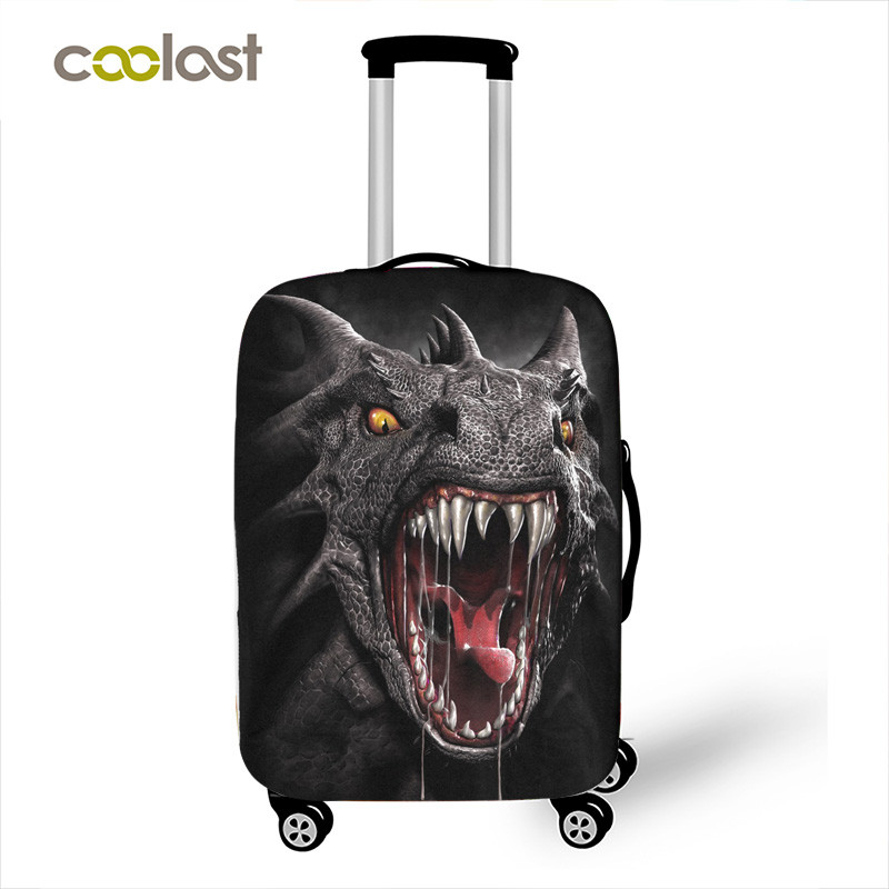 """Gothic Monster Animal / Magic Dragon Printing Suitcase Protective Covers Elastic Anit-dust Travel Luggage Case Covers For 18""""-28"""