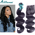 4 bundles Brazilian body wave With Lace Closure Brazilian virgin Hair body wave with lace closure 100% human hair weaves on sale