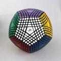 Stickered Preto 9*9 Megaminx MF8 Petaminx Preto Cubo Magico Brinquedos Educativos Presente idea Frete Grátis Transporte da gota