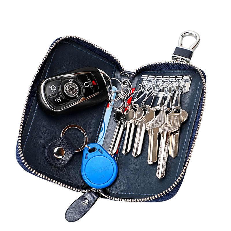 YUFANG etui na klucze mężczyźni brelok organizer do kluczy dla gospodarza damskie etui na breloki Zipper etui na klucze Unisex etui na torebki