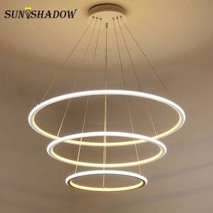 Image 2 - Led Chandelier Lamp For Living room Dining room Kitchen Light Fixtures Modern LED Ceiling Chandelier Lighting Lamparas de techo
