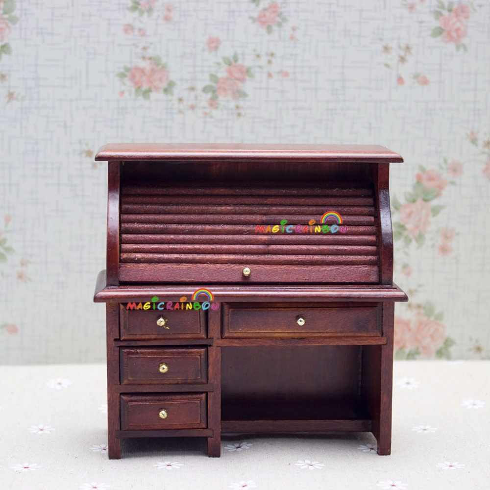 miniaturas de casa de muecas escala sala de accesorios para muebles de madera