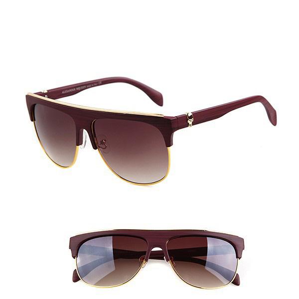 Mens-Womens-Retro-Half-frame-Sunglasses-Frame