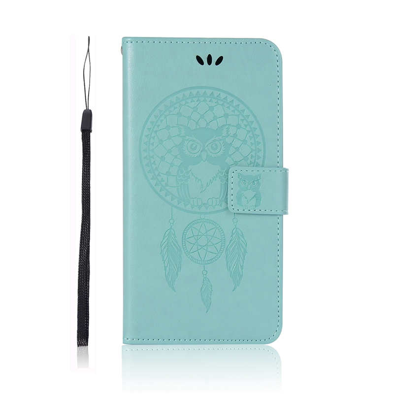 Phone Etui For Coque Huawei P Smart 2019 Case Luxury Owl Leather Wallet Flip Cover For Huawei P Smart 2019
