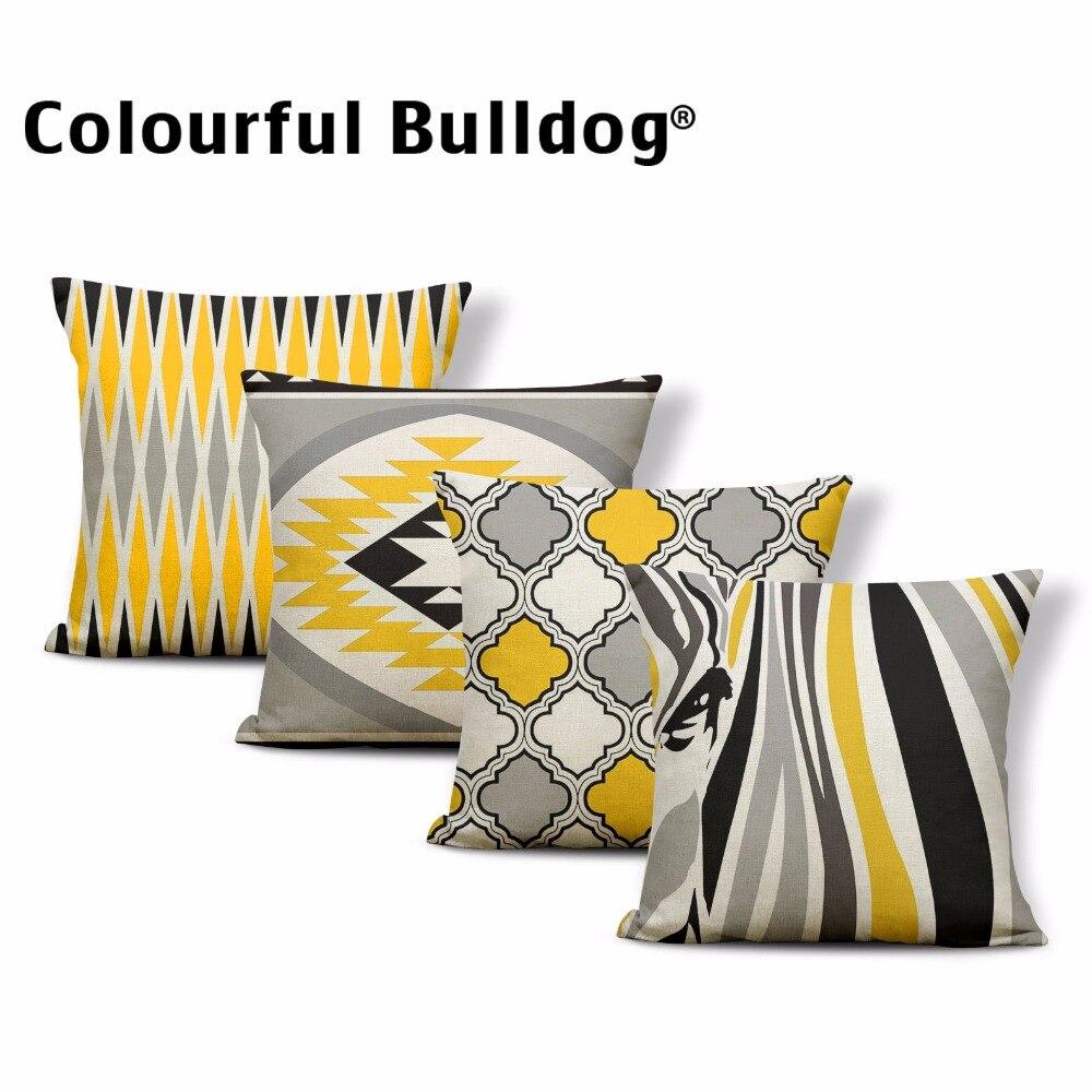 Aliexpress Com Buy Geometry Horse Cushion Pillow Chevron