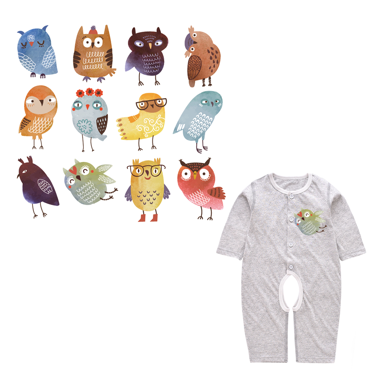 Arts,crafts & Sewing Lovely Iron On Cute Animal Patches Set For Clothes Heat Transfer Vinyl Appliqued Stickers Diy Children T-shirt Decoration Thermal Press