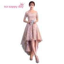 fashion short off shoulder formal champagne 8th grade 6 graduation corset  high low dresses 2019 lace 74bd568e515b