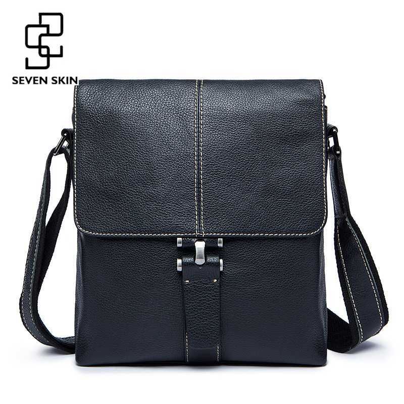 Famous Brand Genuine Leather Men Bag Male Casual Business Messenger Bags Men's Small Briefcase Vintage Crossbody Bag Bolsas Male polo men shoulder bags famous brand casual business pu leather mens messenger bag vintage men s crossbody bag bolsa male handbag