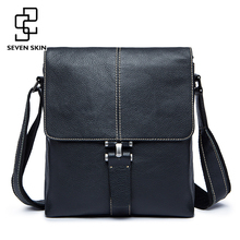 Famous Brand Genuine Leather Men Bag Male Casual Business Messenger Bags Men s Small Briefcase Vintage