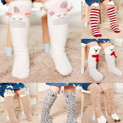 50cb6a7a0cd FOCUSNORM Children s Unicorn Baby Socks Antiskid Cotton Casual Coral Fleece Long  Socks One Size