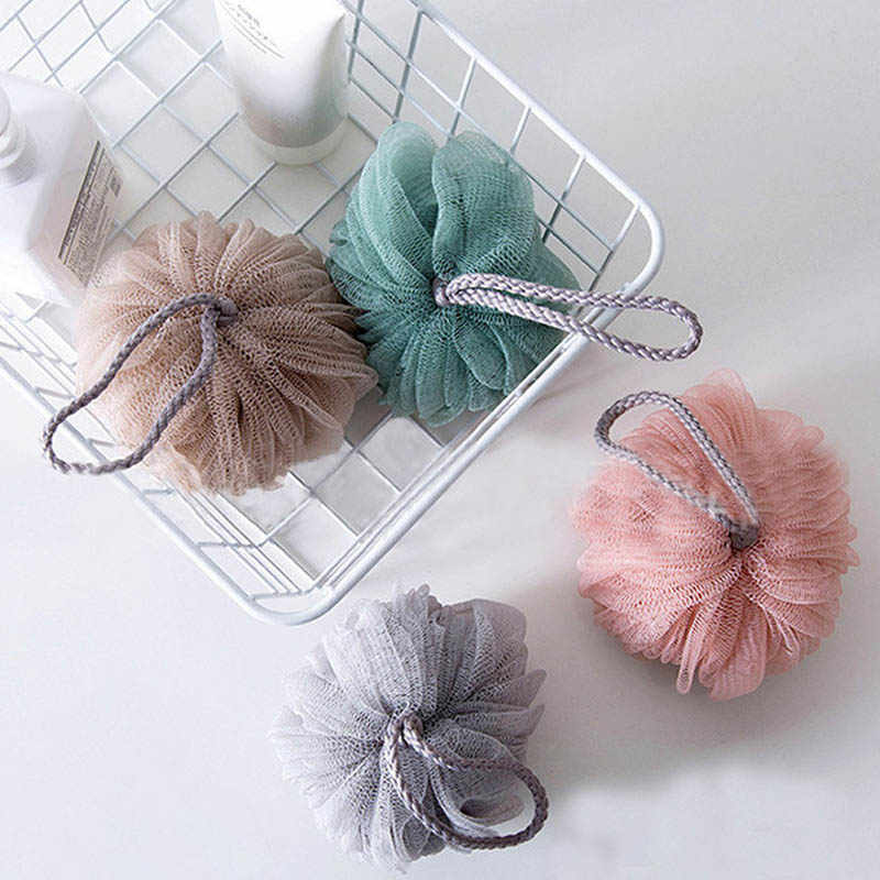 Serviette de bain accessoires salle de bain boules de douche PE boule de bain corps exfoliant outil 1 pièces Portable bain douche épurateur facile à nettoyer