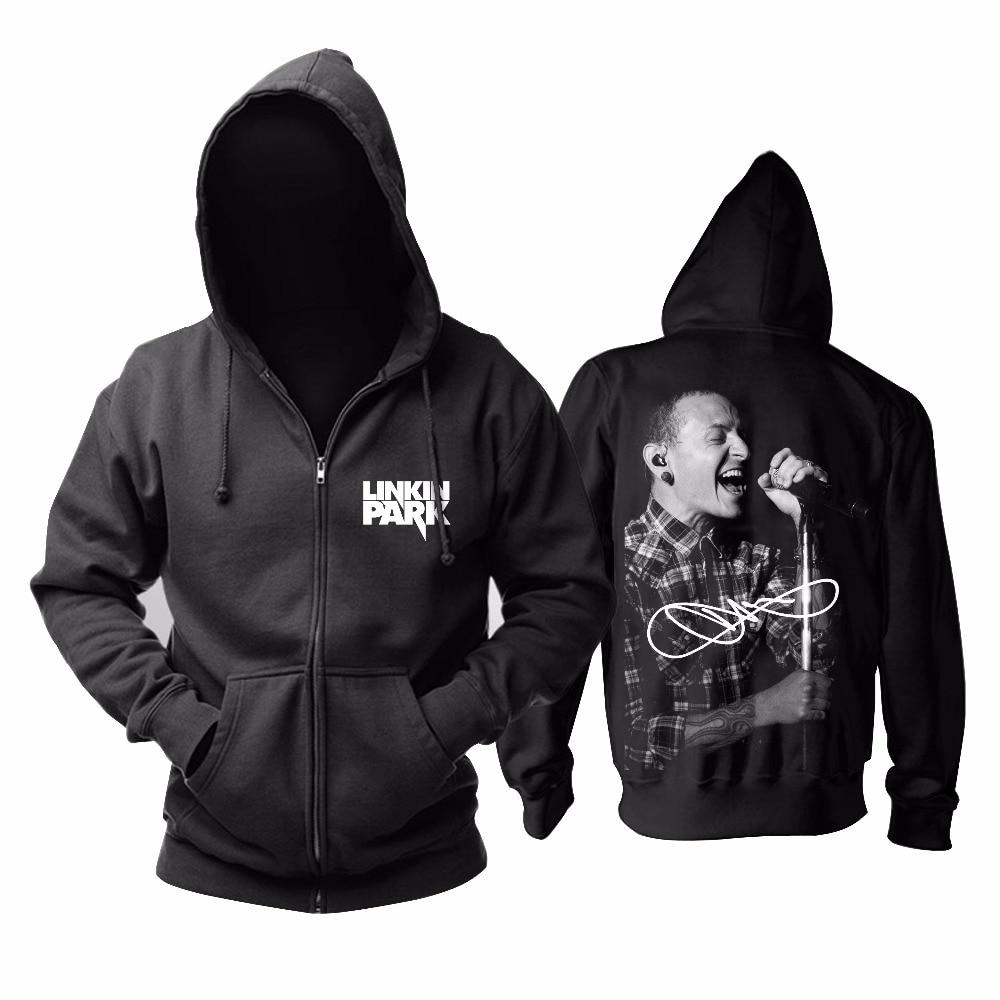 Sweat à capuche Rock and Roll taille asiatique livraison gratuite Linkin Park Punk Rip Chester Bennington-in Sweats à capuche et sweat-shirts from Vêtements homme    1