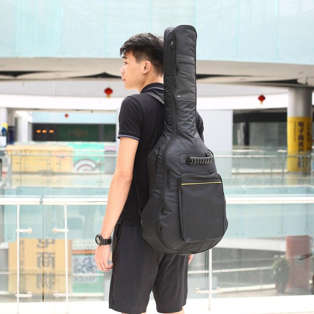 TSAI 40 pulgadas/41 pulgadas Bolsa de guitarra bolsa de transporte mochila Oxford acústica guitarra concierto bolsa cubierta con doble correas de hombro