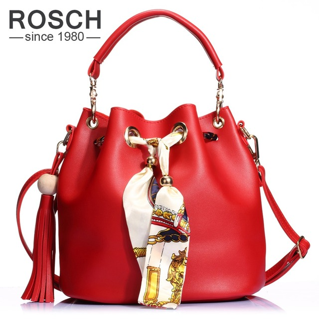 fbb9743969e 2 Set Women Bucket Bag 2016 Tassel Composite Handbag Luxury Brand Design PU  Leather Female Messenger top handle Tote with Ribbon-in Top-Handle Bags ...