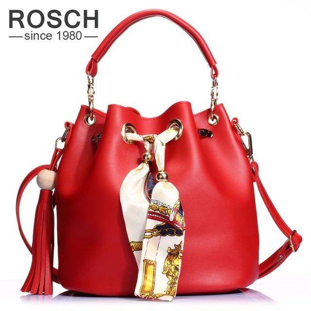 16f46291bd98 2 Set Women Bucket Bag 2016 Tassel Composite Handbag Luxury Brand Design PU  Leather Female Messenger