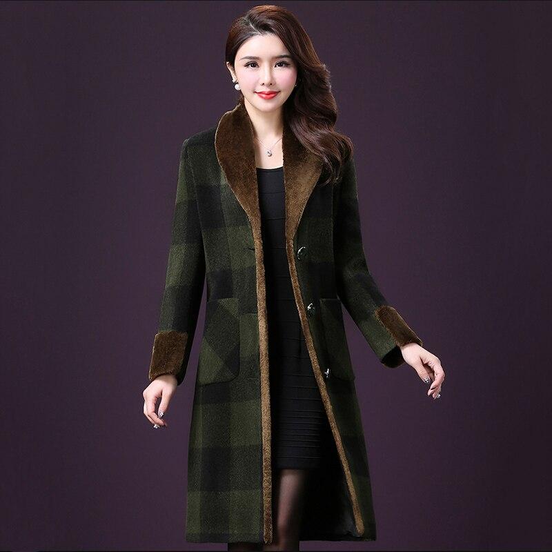 Femmes Treillis Taille 4xl Grande Fc54 Long Nouvelle Mode Green photo Manteaux Automne De Laine À Color Qualité Hiver Haute Veste Femelle Survêtement 3RLA4j5