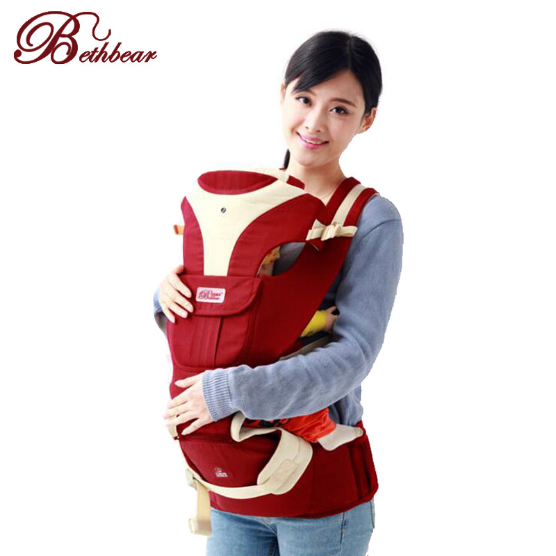 Bethbear Baby Sling 4 in 1 Stretchy Wrap Carrier Baby Backpack&Bag kids Birh-3 Yrs Breastfeeding Cotton Hipseat Products