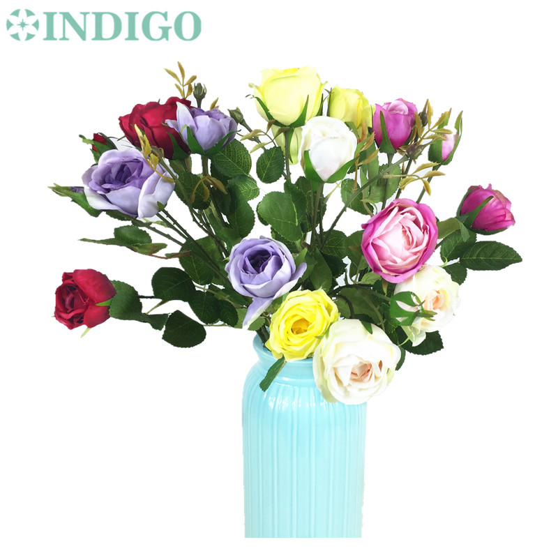 Wholesale Flowers For Weddings Events: Wholesale 100pcs Pink Rose Spray Table Rose Flower