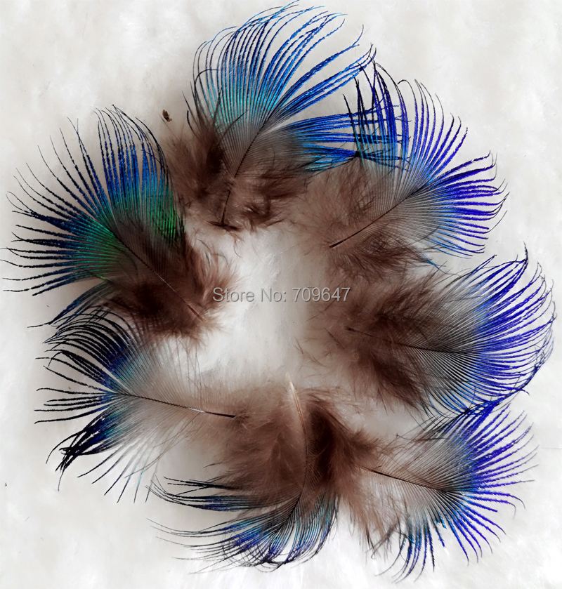 Cheap! 100pcs/Lot Approx 2-4cm long BLUE PEACOCK BODY PLUMAGE FEATHERS,Small Peacock Plumage feathers for Crafts