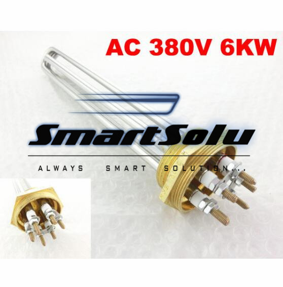 Free Shipping AC 380V 6KW 6P Terminals Water Boiler Heating Element 3U Tube Heater ac380v 6kw 6p terminals water boiler heating element 3u tube heater
