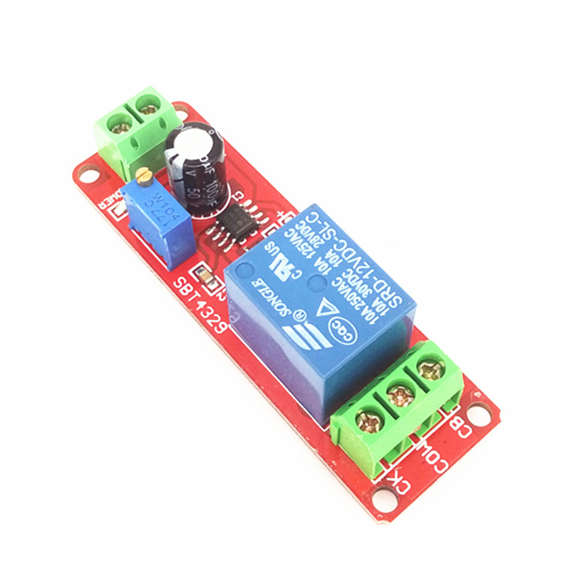 5Stks NE555 12V Delay relay shield Timer Switch Adjustable Module 0 to 10 Second