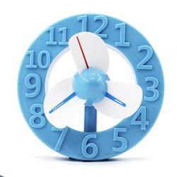 USB портативный вентилятор часы в форме мини Регулируемый вентиляторы для лета дома студентов, общежития офисный ноутбук настольн