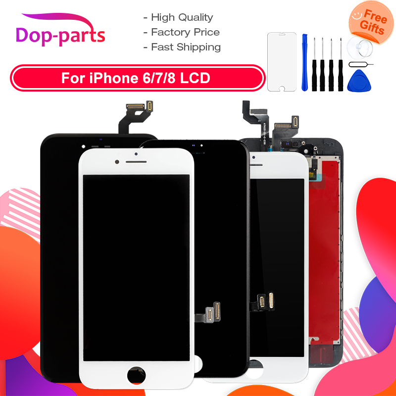 For Apple IPhone 6 6 Plus 6s 7 8 LCD Display Touch Screen LCD Assembly Digitizer Glass Lcd Replacement + Tools + Tempered Glass