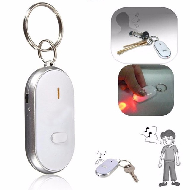 KISSWIFE 2018 New LED Anti-Lost Key Finder Find Locator Keychain Whistle Beep So