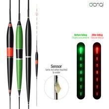 DONQL светящийся умный светодиодный поплавок для рыбалки, высокая чувствительность, сигнализация, изменение цвета рыбы, электронный буй, плавающий поплавок, палка