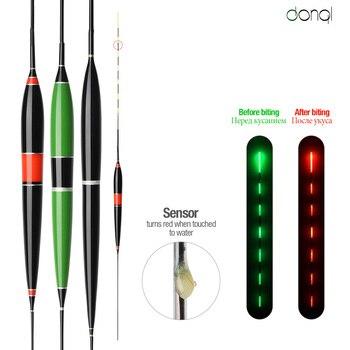DONQL Leucht Smart LED Angeln Float Hohe Empfindlichkeit Alarm Fische Beißen Farbe Ändern Elektronische Boje Fisch Schwimm Bobber Stick